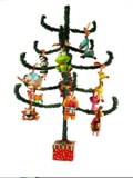 set x 12 whimsical & funky animals -- Christmas Decor